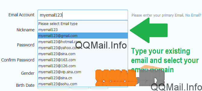 sign up qq mail