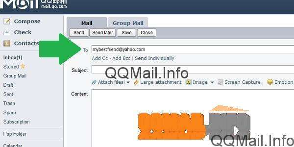 How To Send A Message File Image Or Video In Qq Mail